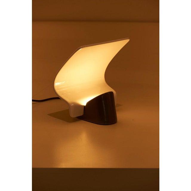 "White Ceramic Table Lamp ""Maia"" by Arturo Silva for Antonangeli, Italy For Sale - Image 8 of 10"