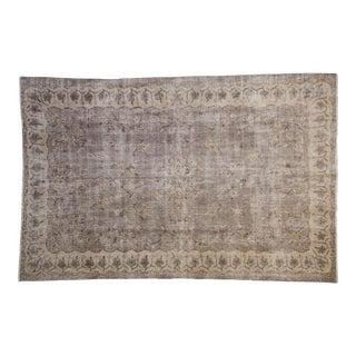"Vintage Distressed Sparta Carpet - 6'6"" X 9'11"" For Sale"