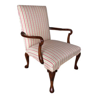Antique George III Mahogany Library Chair For Sale