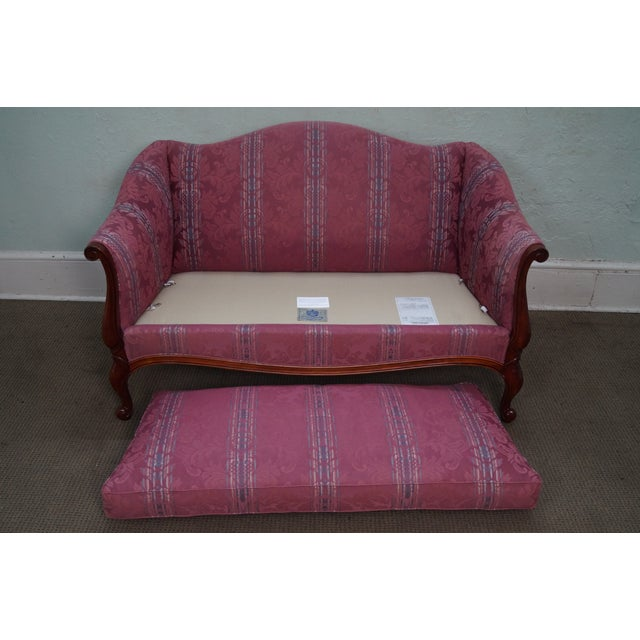 Hickory Chair French Mahogany Frame Loveseat - Image 10 of 10