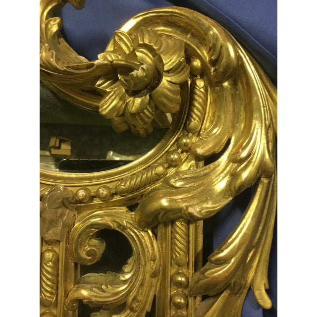6 ' Tall French 19th C. Gilt Mirror For Sale - Image 9 of 10