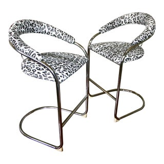 Vintage Mid Century Thonet Counter Stools- A Pair For Sale