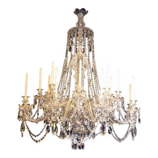 Antique Chandelier, All Crystal Russian Chandelier For Sale
