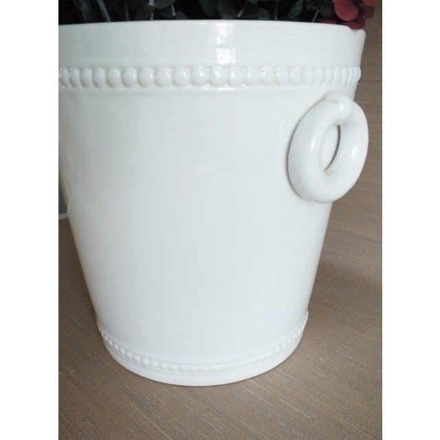 Vintage Bassanello White Italian Planter Cache Pot For Sale - Image 5 of 7