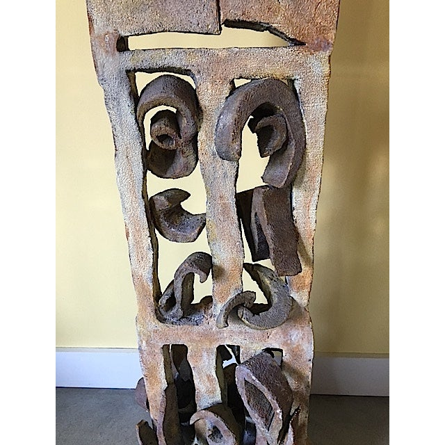 Primitive Cast Iron Sculpture For Sale - Image 4 of 7