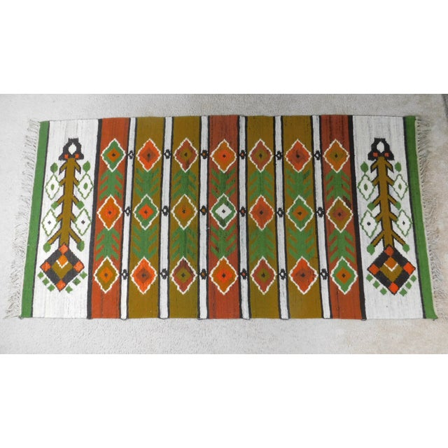 Handmade Area Rug Tapestry - 3′3″ × 6′9″ For Sale - Image 9 of 9