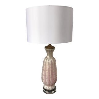 Vintage Barovier Toso Pink Murano Lamp For Sale