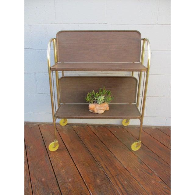 Folding Metal Bar Cart - Image 4 of 10