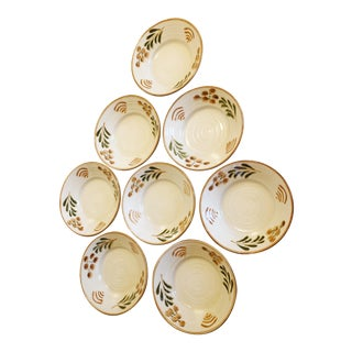 Williams Sonoma Hand Painted Italian Bowls - Set of 8 For Sale