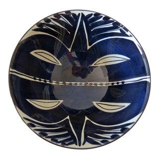 Vintage Royal Copenhagen Aluminia Fajance Tenera Pottery Bowl Inge-Lise Koefoed For Sale