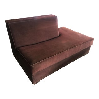 Chocolate Brown Loveseat For Sale