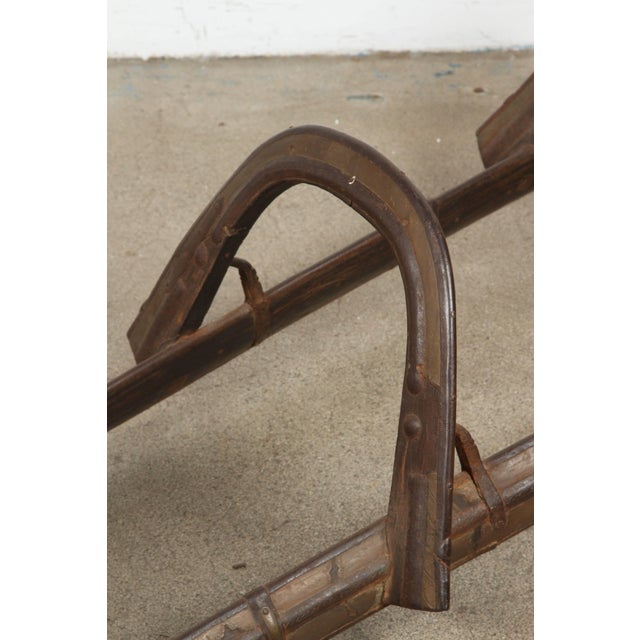Early 19th Century Antique Camel, Dromadaire Brass and Iron Saddle For Sale - Image 5 of 10