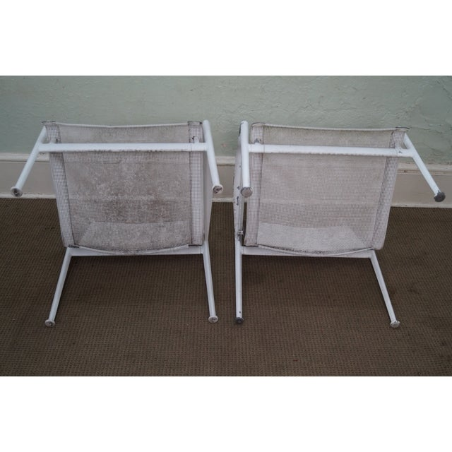 Schultz Knoll Aluminum Mesh Lounge Chairs - Pair For Sale - Image 10 of 10