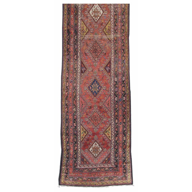 Colorful Hamadan Runner Rug - Image 3 of 3