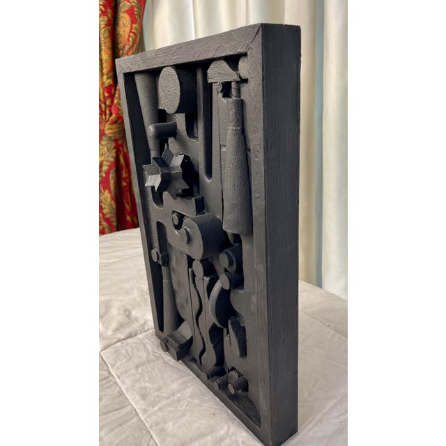 Mid-Century Modern Contemporary Assemblage Sculpture After Louise Nevelson For Sale - Image 3 of 7