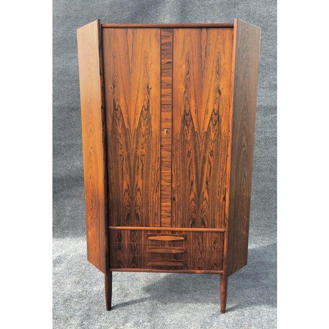 Danish Modern Rosewood Corner Cabinet - Image 3 of 6