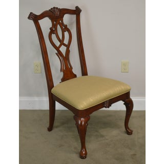 Thomasville Cherry Transitional Chippendale Style Cherry Side Chair Preview