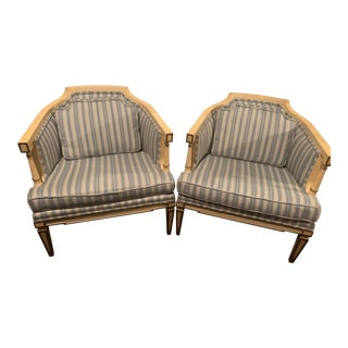 Hollywood Regency Chairs - A Pair For Sale