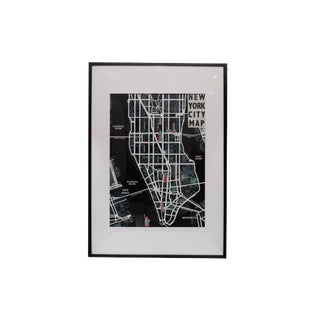 Framed New York City Map For Sale