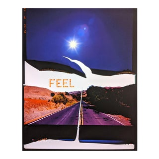 """Contemporary Abstract Photography and Paint on Wood """"Feel, Canyon Road"""" by Jason Engelund For Sale"""