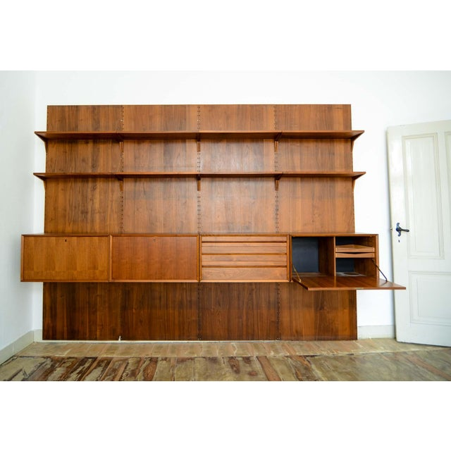 Large Mid-Century Design Teakwood Cadovius Wall Unit, Denmark, 1960s For Sale - Image 10 of 11