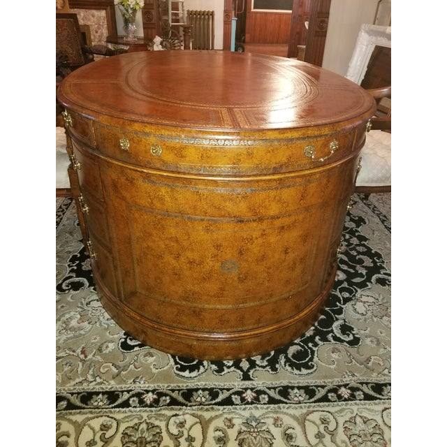 Mid-Century Modern 20th Century Regency Maitland Smith Partner Desk For Sale - Image 3 of 8