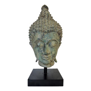 Mounted Bronze Representation of Buddha (Sukhothai), Thailand (Figure/Statue) For Sale