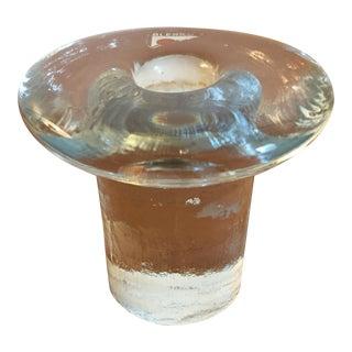 Blenko Glass Candle Stick Holder