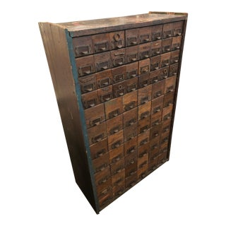 Industrial Multi Drawer Hardware Store Cabinet For Sale