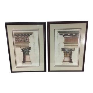 1990s Mediterranean Architectural Prints – a Pair For Sale