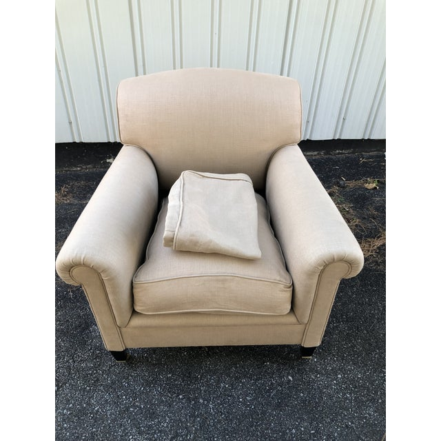 George Smith Full Scroll Arm Chair With Slipcover For Sale In New York - Image 6 of 11