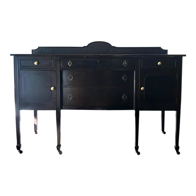 Antique Black Sideboard For Sale