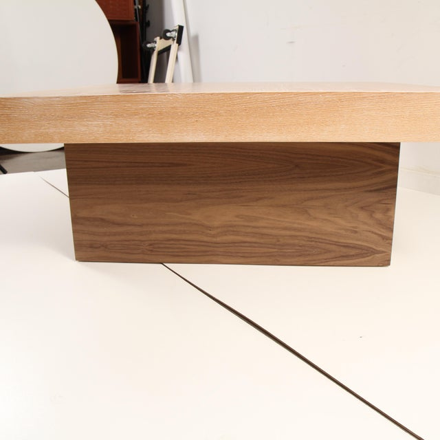 Wood Cerused Coffee Table by Samuel Greg For Sale - Image 7 of 10
