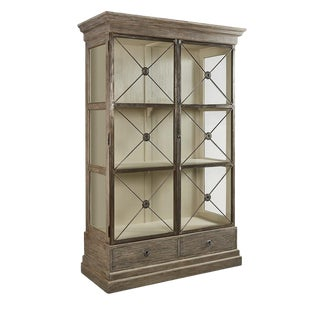 Xander Glass Door Bookcase For Sale