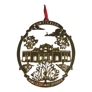 Monticello Christmas Tree Ornament For Sale