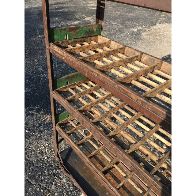 Antique Industrial Rolling Cart With Shelves For Sale In Chicago - Image 6 of 13