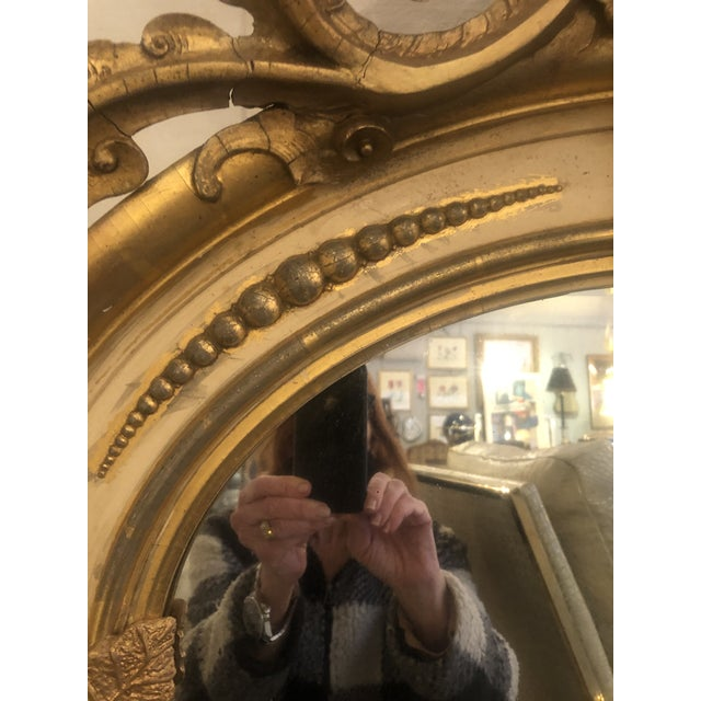 1900 - 1909 Belle Époque Parcel-Gilt and Lemon Silver Arched Wall Mirror For Sale - Image 5 of 13