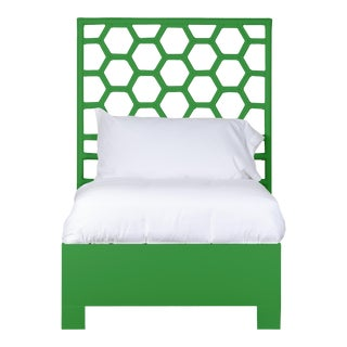 Honeycomb Bed Twin - Bright Green For Sale