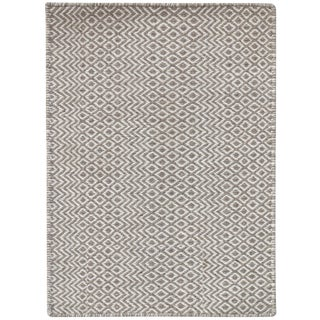 Bella Modern Beige Hand-Woven Rug 5'x8' For Sale