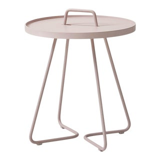 Cane-Line On-The-Move Side Table, Small, Dusty Rose For Sale