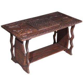 African Wooden Coffee Table For Sale