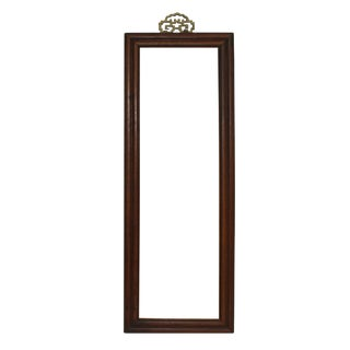 Wood Brown Simple Rim Rectangular Picture Painting Frame For Sale