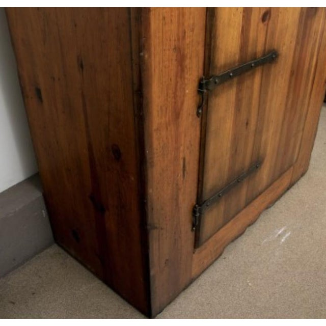 Brown Monumental Ralph Lauren for Henredon Pine Cabinet For Sale - Image 8 of 11