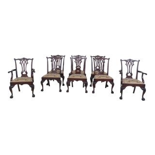 Stickley Ball & Claw Chippendale Mahogany Dining Room Chairs Set of 8 For Sale