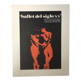 """1970's Vintage """"Ballet Del Siglo XX"""" Poster by Dugald Stermer For Sale"""