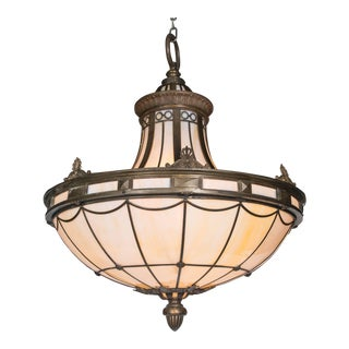 Caldwell Neoclassic Style Light Fixture With Interior Lights For Sale