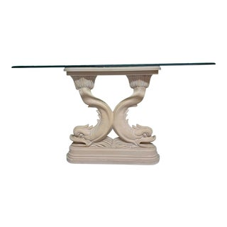 Asian Dolphin Console Table For Sale