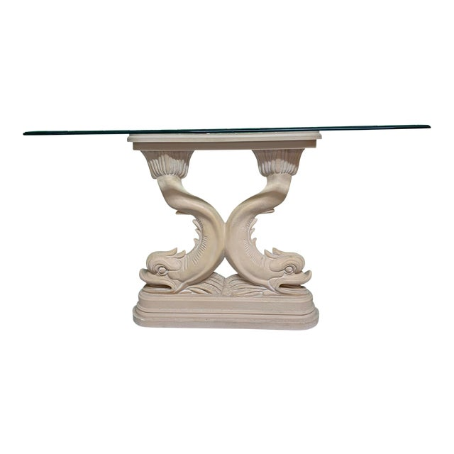 Asian Dolphin Fish Console Table For Sale