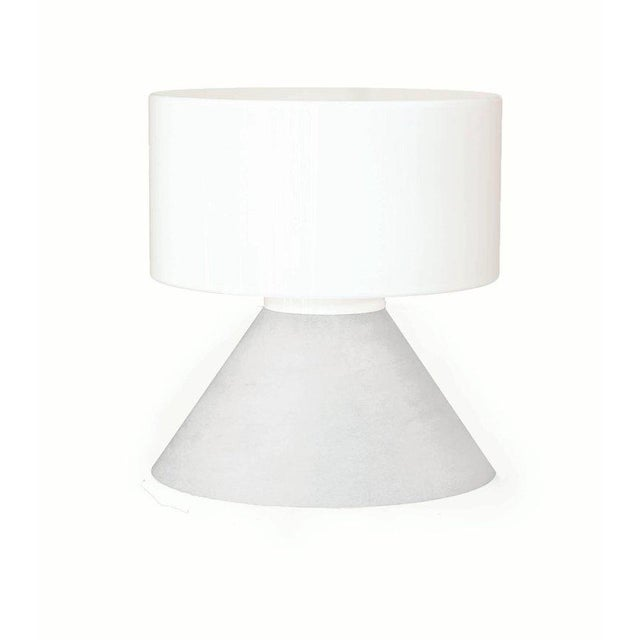 White Samuli Naamanka for Innolux Oy 'Concrete' Table Lamp in Dark Gray For Sale - Image 8 of 10