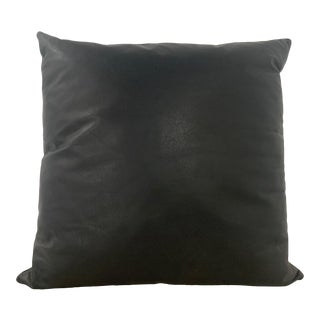 Eight Black Leather Down Pillows by Joe d'Urso for Knoll International For Sale